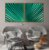 Conjunto com 02 quadros decorativos Folhas de Palmeira - Imagem 1