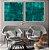 Conjunto com 02 quadros decorativos Abstrato Verde - Imagem 3