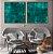 Conjunto com 02 quadros decorativos Abstrato Verde - Imagem 2
