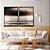 Conjunto com 02 quadros decorativos Abstrato Preto, Marrom e Cinza - Imagem 3