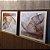 ENVIO IMEDIATO - Conjunto com 02 quadros decorativos Metal 40x40cm (LxA) Moldura cor Amadeirada - Imagem 2
