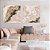 Conjunto com 02 quadros decorativos Abstrato Rosé - Imagem 3