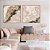 Conjunto com 02 quadros decorativos Abstrato Rosé - Imagem 1