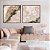 Conjunto com 02 quadros decorativos Abstrato Rosé - Imagem 2