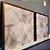 ENVIO IMEDIATO - Conjunto com 02 quadros decorativos Folhas Secas 60x60cm (LxA) Moldura Amadeirada - Imagem 1
