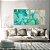 Conjunto com 02 quadros decorativos Abstrato Verde e Azul - Imagem 2