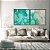 Conjunto com 02 quadros decorativos Abstrato Verde e Azul - Imagem 3