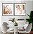 Conjunto com 02 quadros decorativos Abstrato Metal - Imagem 3