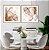 Conjunto com 02 quadros decorativos Abstrato Metal - Imagem 4