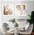 Conjunto com 02 quadros decorativos Abstrato Metal - Imagem 2