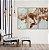 Conjunto com 03 quadros decorativos Marmorizado Cobre - Imagem 1