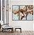 Conjunto com 03 quadros decorativos Marmorizado Cobre - Imagem 3