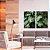 Conjunto com 02 quadros decorativos Folhas Monstera - Imagem 2