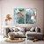 Conjunto com 02 quadros decorativos Abstrato Azul - Imagem 1