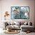 Conjunto com 02 quadros decorativos Abstrato Azul - Imagem 3