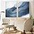 Conjunto com 02 quadros decorativos Azul Abstrato - Imagem 2