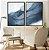 Conjunto com 02 quadros decorativos Azul Abstrato - Imagem 3