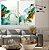Conjunto com 02 quadros decorativos Abstrato Azul, Verde e Dourado - Imagem 3