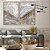 Conjunto com 02 quadros decorativos Abstrato Marmorizado Cinza - Imagem 4