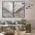 Conjunto com 02 quadros decorativos Abstrato Marmorizado Cinza - Imagem 2