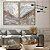 Conjunto com 02 quadros decorativos Abstrato Marmorizado Cinza - Imagem 1