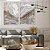 Conjunto com 02 quadros decorativos Abstrato Marmorizado Cinza - Imagem 3