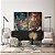 Conjunto com 02 quadros decorativos Abstrato Marrom, Azul e Cobre - Imagem 1