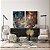 Conjunto com 02 quadros decorativos Abstrato Marrom, Azul e Cobre - Imagem 3