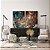 Conjunto com 02 quadros decorativos Abstrato Marrom, Azul e Cobre - Imagem 2