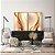 Conjunto com 02 quadros decorativos Abstrato Dourado e Bege - Imagem 3
