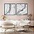Conjunto com 02 quadros decorativos Pedra  - Imagem 1
