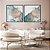 Conjunto com 02 quadros decorativos Abstrato Azul, Lilás e Dourado - Imagem 4