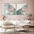 Conjunto com 02 quadros decorativos Abstrato Azul, Lilás e Dourado - Imagem 1