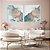 Conjunto com 02 quadros decorativos Abstrato Azul, Lilás e Dourado - Imagem 3