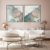 Conjunto com 02 quadros decorativos Abstrato Azul, Lilás e Dourado - Imagem 2