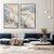 Conjunto com 02 quadros decorativos Marmorizado Azul e Bege - Imagem 2