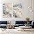 Conjunto com 02 quadros decorativos Marmorizado Azul e Bege - Imagem 3