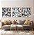 Conjunto com 03 quadros decorativos Formas Abstratas em P&B - Imagem 3