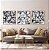 Conjunto com 03 quadros decorativos Formas Abstratas em P&B - Imagem 4