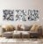 Conjunto com 03 quadros decorativos Formas Abstratas em P&B - Imagem 2
