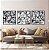 Conjunto com 03 quadros decorativos Formas Abstratas em P&B - Imagem 1