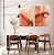 Conjunto com 02 quadros decorativos Abstrato Vermelho e Dourado - Imagem 3
