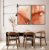Conjunto com 02 quadros decorativos Abstrato Vermelho e Dourado - Imagem 2