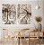 Conjunto com 02 quadros decorativos Árvores Sépia - Imagem 2
