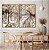 Conjunto com 02 quadros decorativos Árvores Sépia - Imagem 3