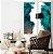Conjunto com 02 quadros decorativos Abstrato Verde, Azul e Cobre - Imagem 3