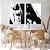 Conjunto com 02 quadros decorativos Pintura Abstrata - Imagem 2