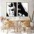 Conjunto com 02 quadros decorativos Pintura Abstrata - Imagem 3