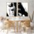 Conjunto com 02 quadros decorativos Pintura Abstrata - Imagem 4