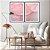 Conjunto com 02 quadros decorativos Abstrato Rosa e Lilás - Imagem 3
